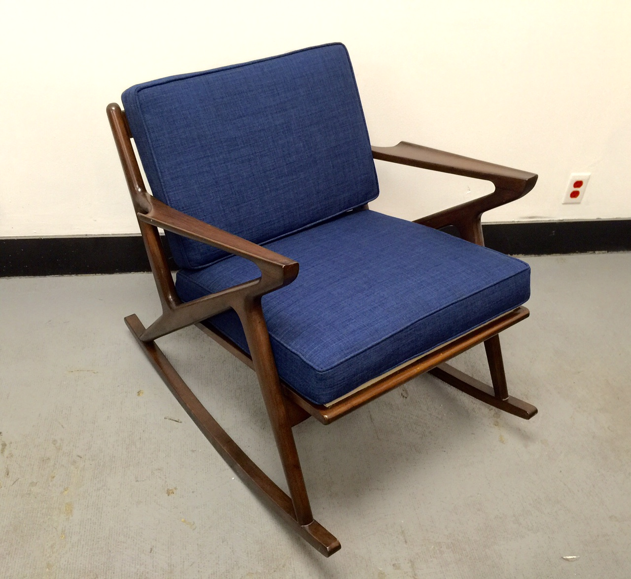 Mid century custom z rocking chair west coast modern la for Z chair mid century