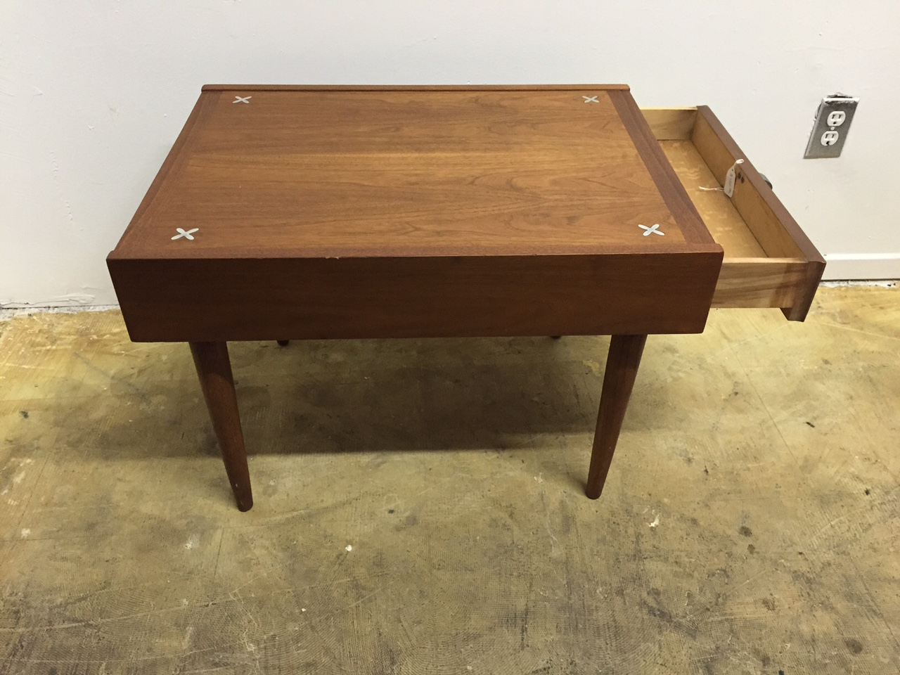 mid century side table by american of