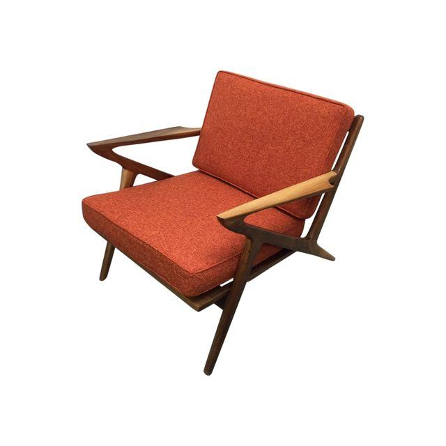 Mid century walnut z lounge chair west coast modern la for Z chair mid century