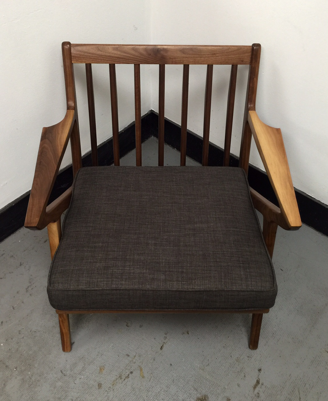 Mid century walnut z chair west coast modern la for Mid century modern la