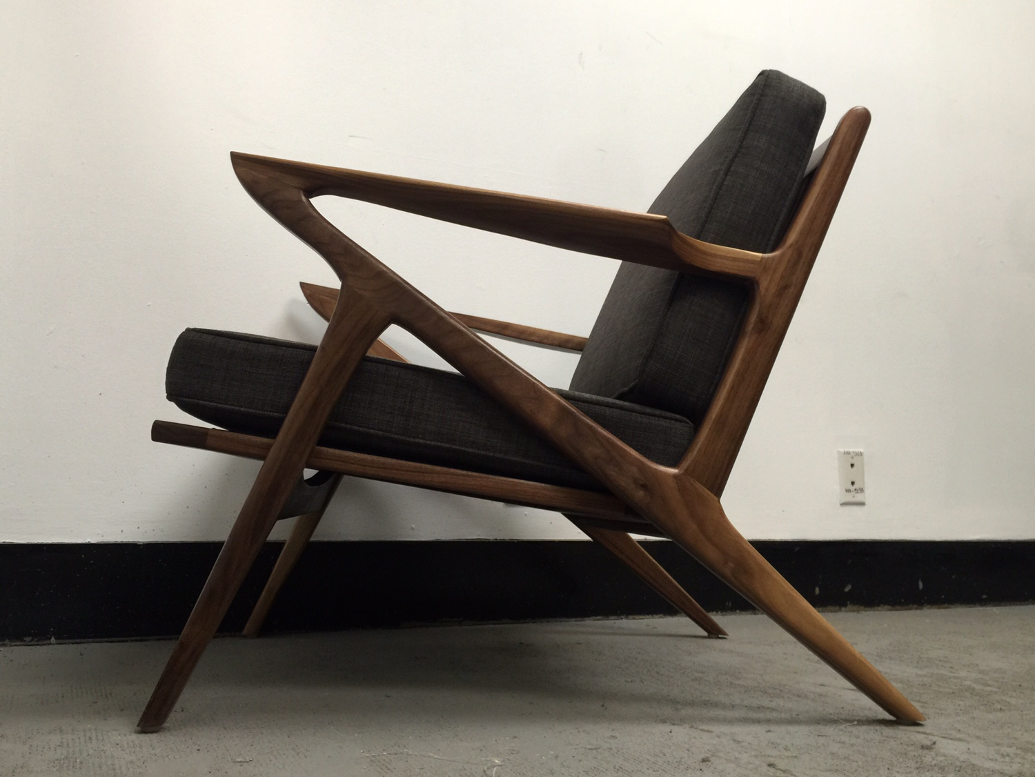 Mid century modern z chair mid century modern for Mid century modern reproduction