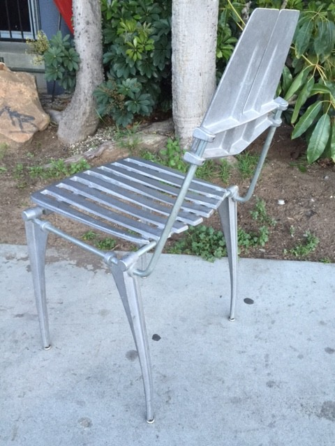 RARE CAST ALUMINUM CHAIR BY ROBERT JOSTEN