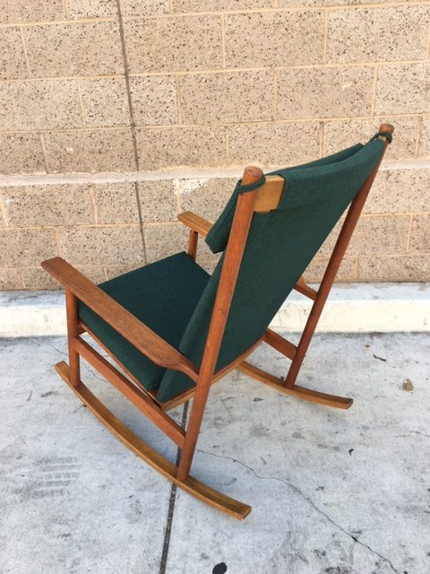 DANISH MID CENTURY ROCKING CHAIR BY HANS OLSEN
