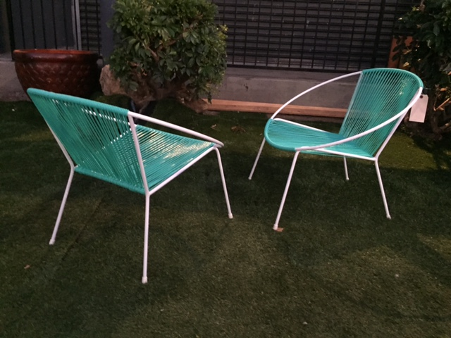 MID CENTURY HOOP CHAIRS (EACH)