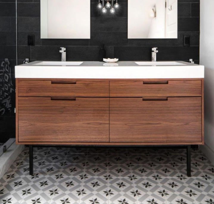 60 Double Sink Vanity West Coast Modern La