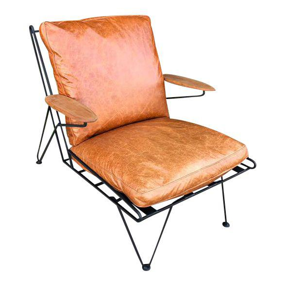 Prime Custom Wrought Iron Lounge Chair Leather Upgrade Ibusinesslaw Wood Chair Design Ideas Ibusinesslaworg